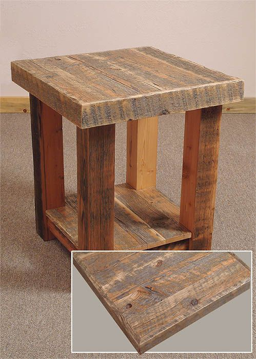 Barn wood furniture plans Barn wood tables and reclaimed wood benches  Michael Vintage Perkins shares tips for building furniture. All the barn wood pieced together make for a really nice look on