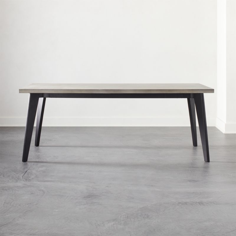 Harper Black Dining Table With Concrete Top Marble Top Dining