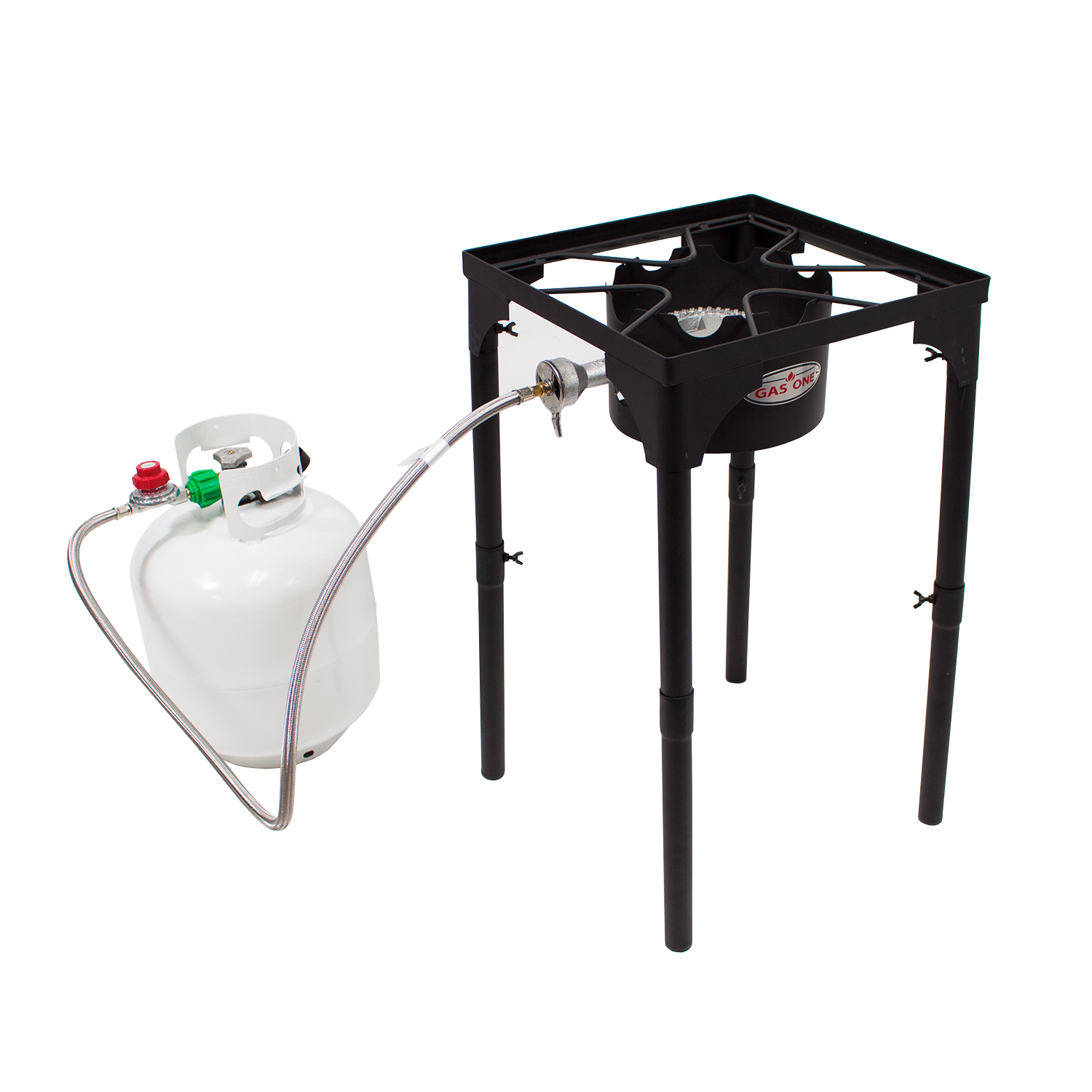 Gas One Portable Propane 100 000 Btu High Pressure Single Burner Outdoor Camp Stove Adjustable Legs Single Burner Outdoor Cooker
