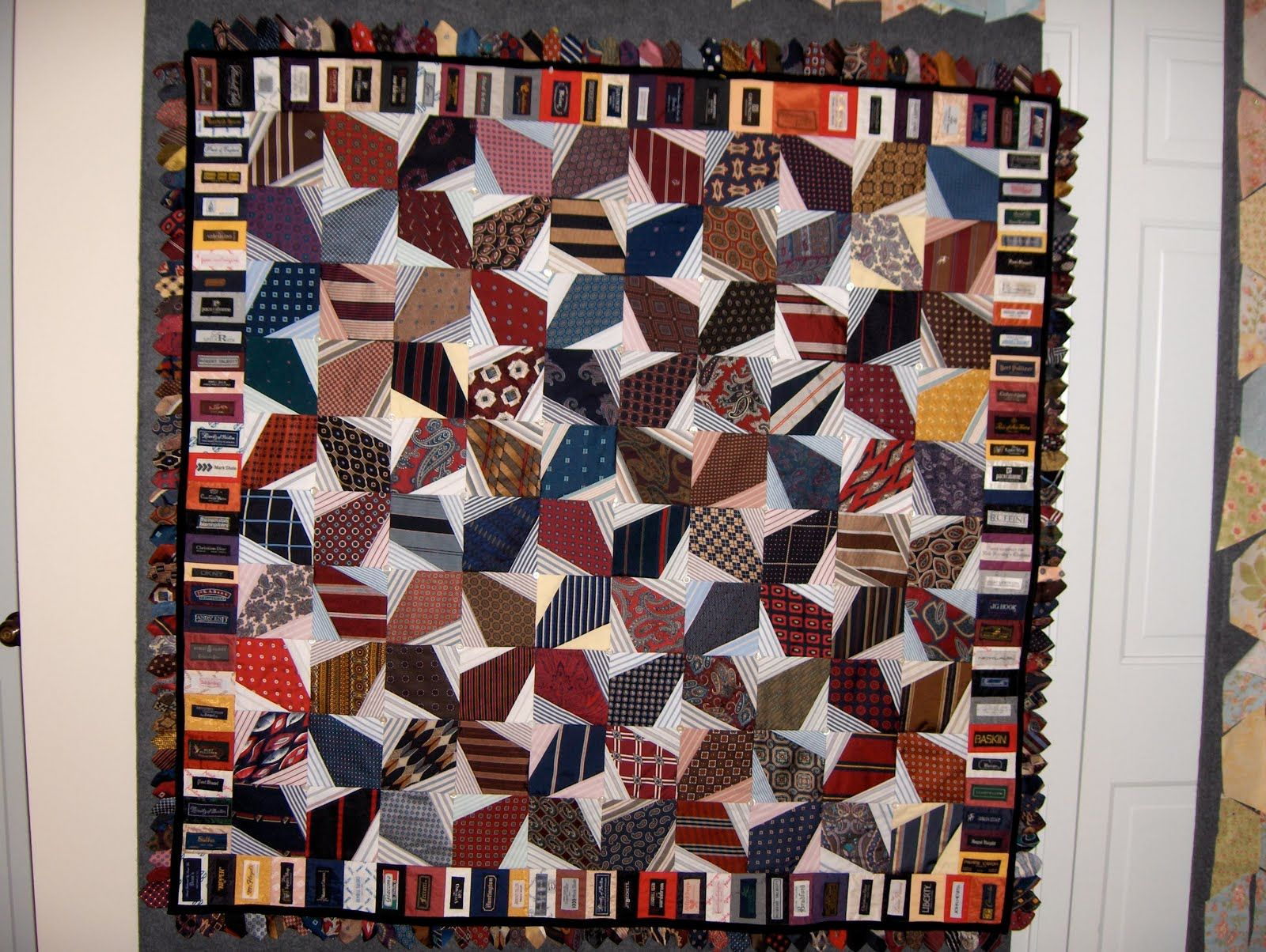 Threads Through Time: INTERNATIONAL QUILT SHOW CHICAGO; TIE QUILT ... : silk tie quilts patterns - Adamdwight.com