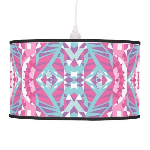 Mix #445 - Pink Tribal Lamp