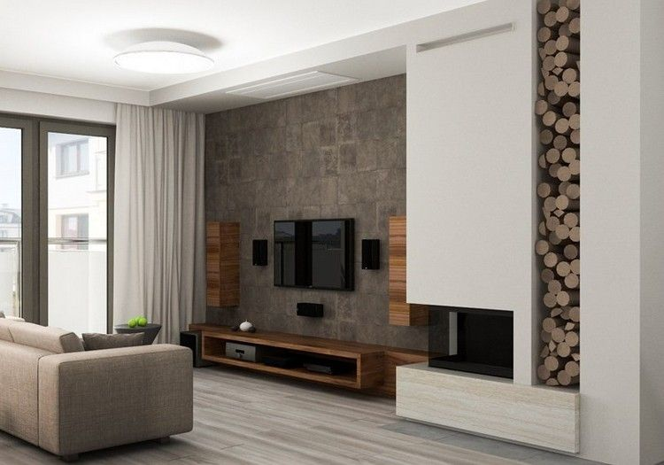 Écran plat mural – une option élégante pour le salon moderne | Tv ...