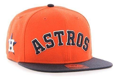 2ada3d0624a Houston-Astros-MLB-Script-Side-Two-Tone-Captain-Snapback-Cap-Orange ...