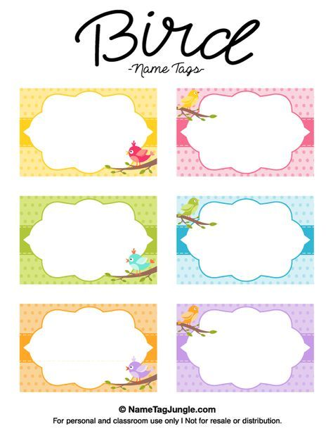free printable bird name tags the template can also be used for creating items like