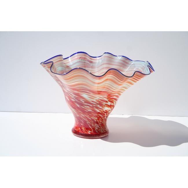 White Walls Hand-blown Gradient Vase