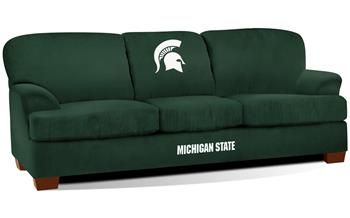 Superb Michigan State University First Team Microfiber Sofa Only Andrewgaddart Wooden Chair Designs For Living Room Andrewgaddartcom