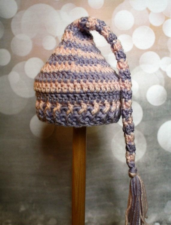03 Month Pink & Purple Striped Dreaming Cap  by NapTimeCreationsMO, $10.00