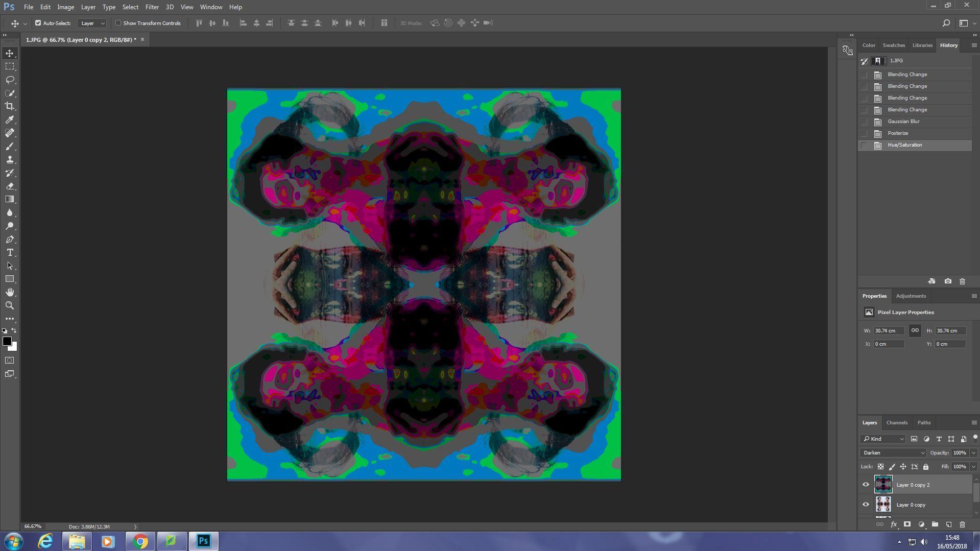 I edited it with the effect - Darken  Then Gaussian Blur