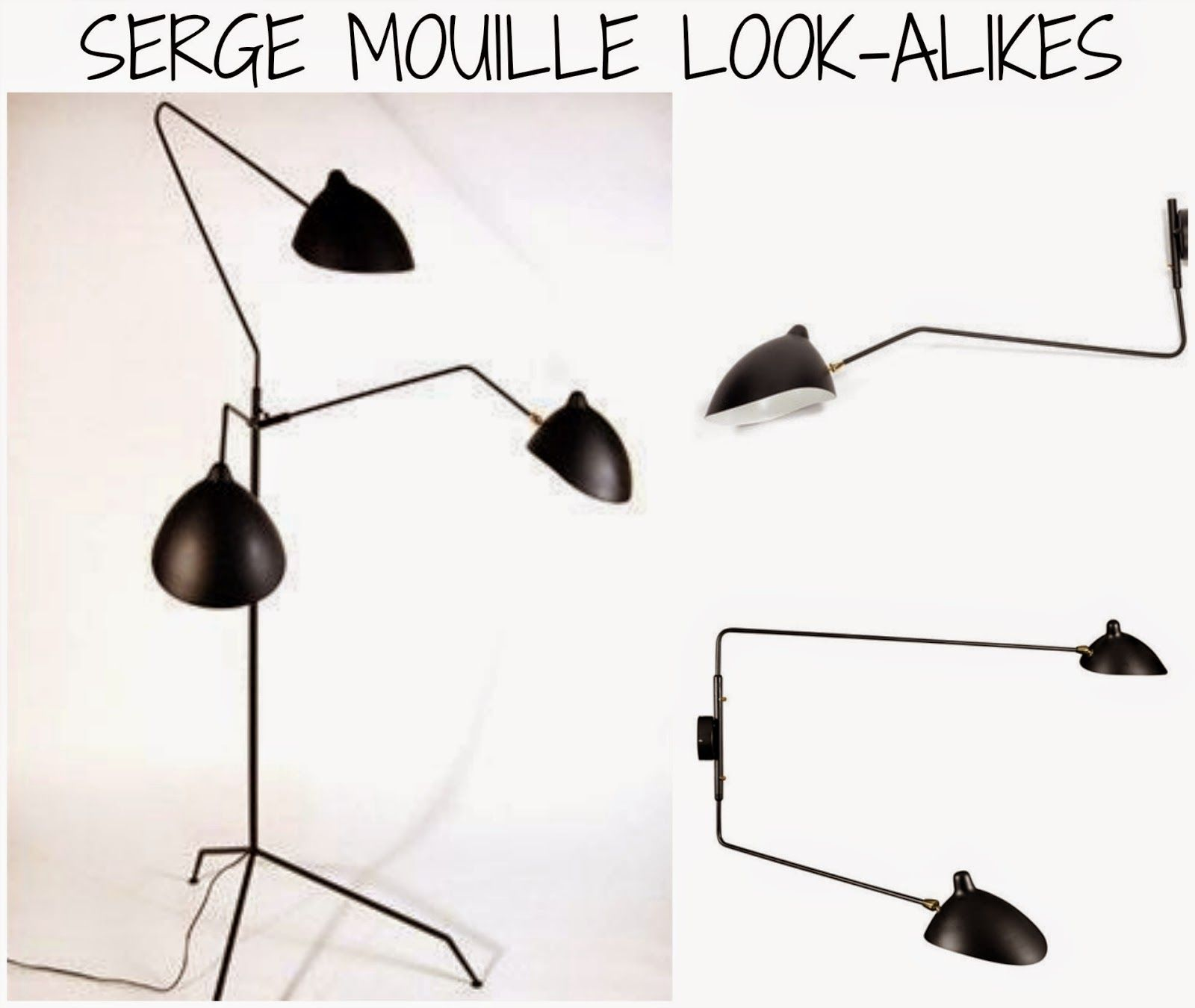 Rosa Beltran Design Blog Round-up of all the best Serge Mouilles look-alike lookalike look alike replica copy light fixtures fixture lighting sconces ...  sc 1 st  Pinterest & Rosa Beltran Design Blog Round-up of all the best Serge Mouilles ... azcodes.com
