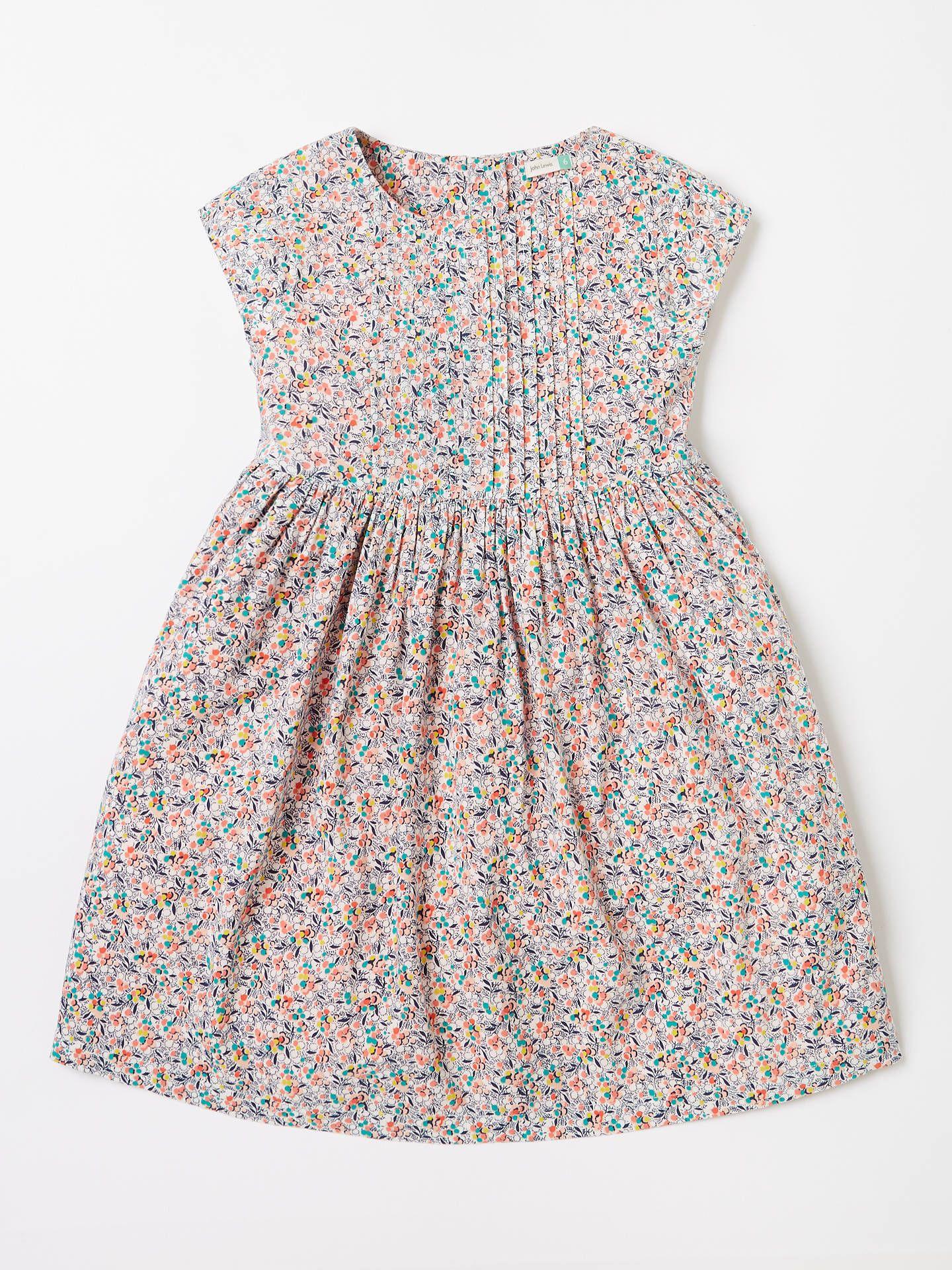 2ef5b306cd0060 John Lewis & Partners Girls' Ditsy Floral Print Dress, Multi at John Lewis  & Partners