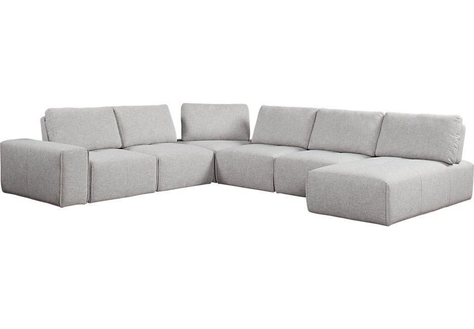 Best Laney Park Gray 7 Pc Sectional 1199 99 116W X 135D X 33H 400 x 300