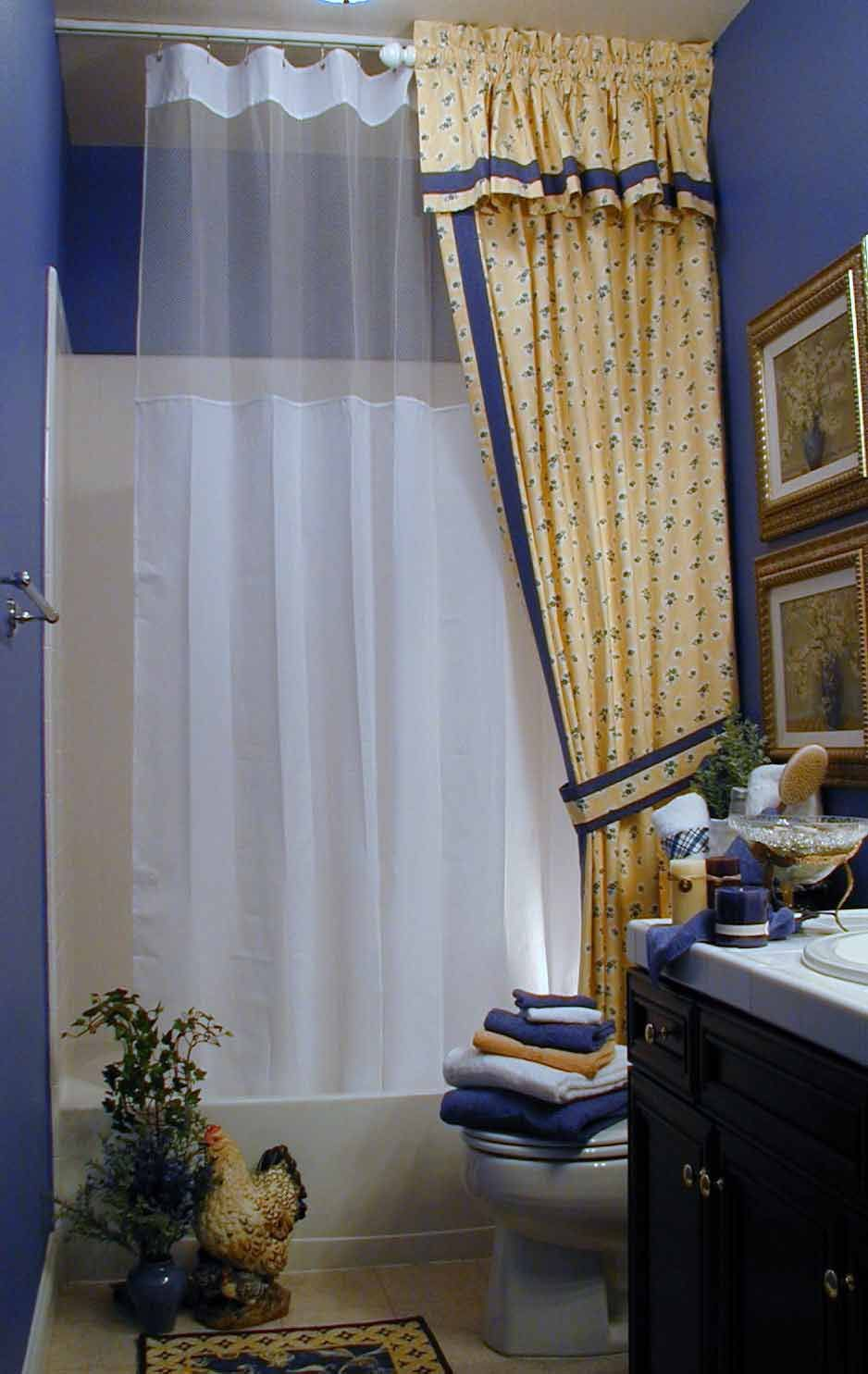 Shower Rods: Straight Ceiling Shower Curtain Rod, on track   Bath ...