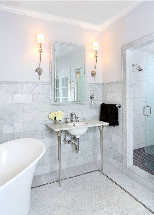 Bathroom Design  Great bathroom design ideas  I love the marble flooring  and backsplash tiles. Bathroom Design  Great bathroom design ideas  I love the marble
