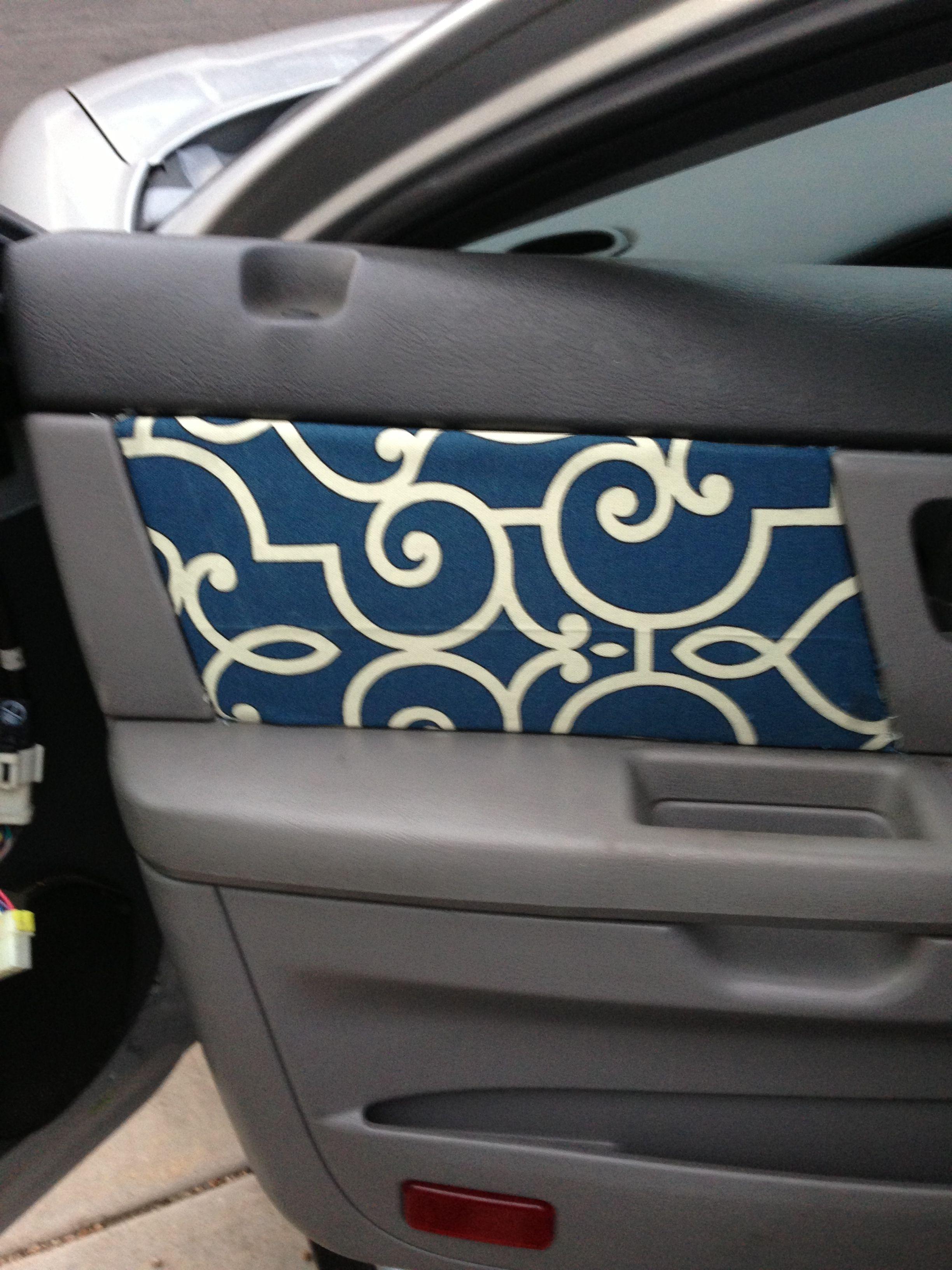 Reupholstered my car door panels Car cleaning, Car hacks