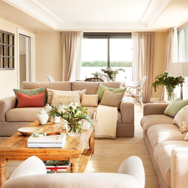 Objetivo salvar los muebles livings pinterest sal n for Decoracion de cortinas para salon