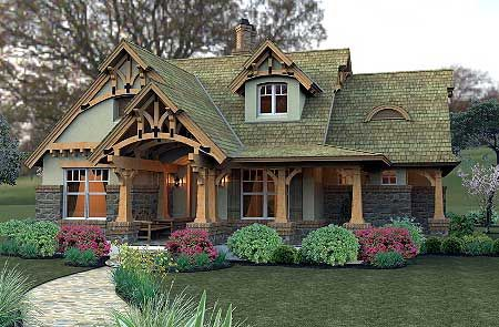 European, Vacation, Mountain, Cottage   Total Living Area: 1,421 Sq. Ft.    Bonus: 504 Sq. Ft. + Optional Basement