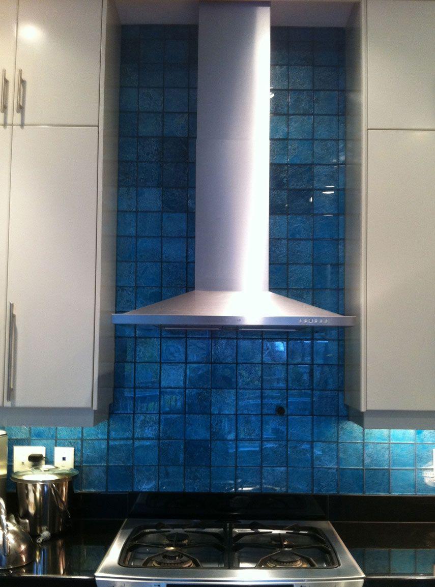 Blue Fantasy Glass Backsplash By Stepping Stone & Tile #SST ...