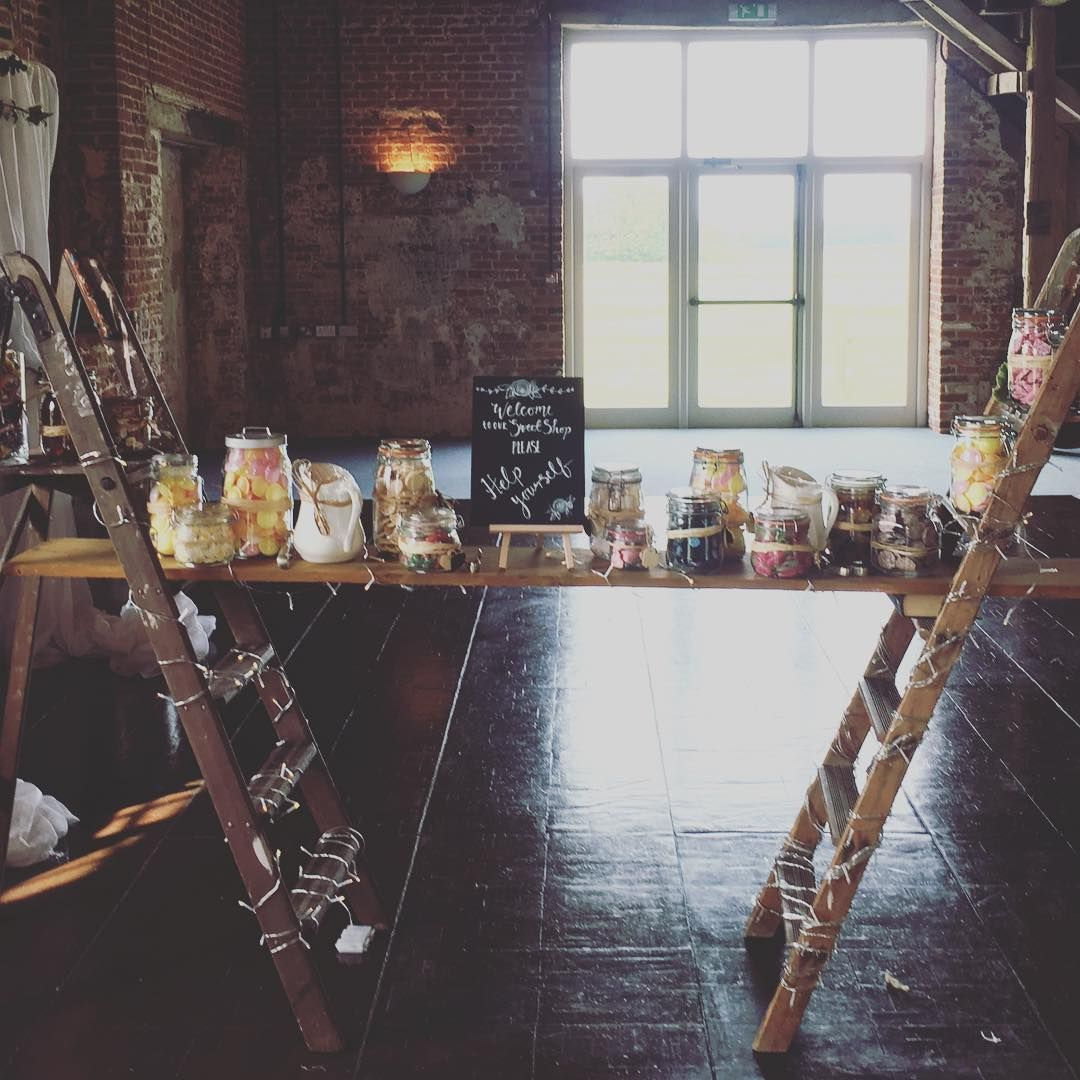 Ladders For A Rustic Meets Romantic Wedding Ideas