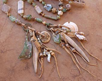 RESERVED Desert Primitive Summer Solstice Talisman Necklace