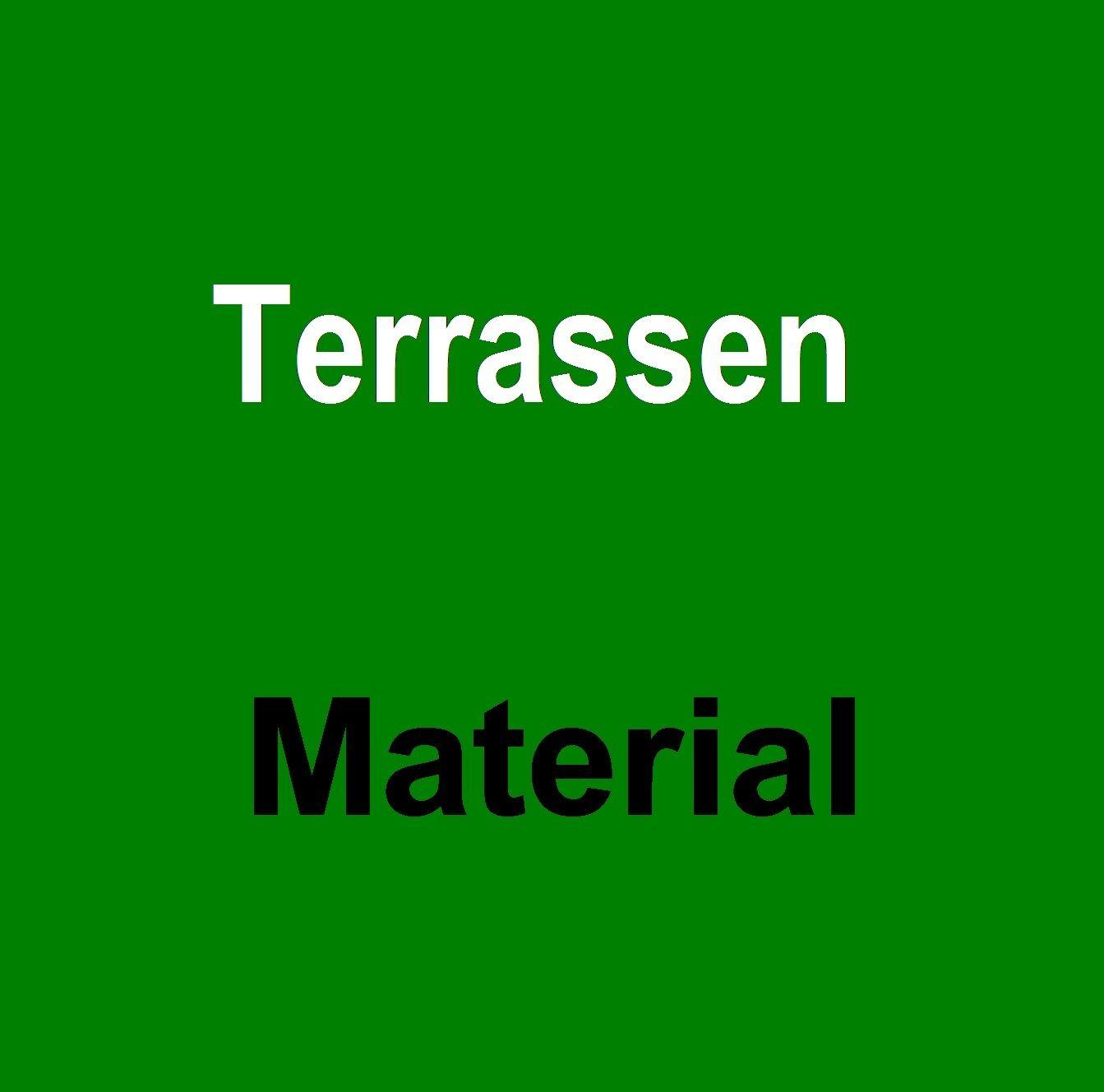 Terrasse == Terrassenmaterial, Abdichtfolie, Bautenschutzmatten