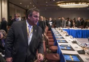 Chris Christie stayed out of the limelight during a D.C. gathering of governors this weekend, giving ambitious Republicans a chance to nab some attention in his stead. State leaders flocked to the nation's capital Friday for the winter National Governors Association meeting - and though Christie heads the Republican Governors Association, he and his wife, Mary Pat, kept to themselves.