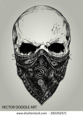 Proulxjustice Yourstory Bodyart Tattoo Skull And Bandana Doodle