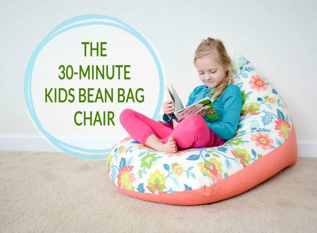 DIY Sew A Kids Bean Bag Chair In 40 Minutes Pinterest Kids Bean Gorgeous How To Make Bean Bags Without A Sewing Machine