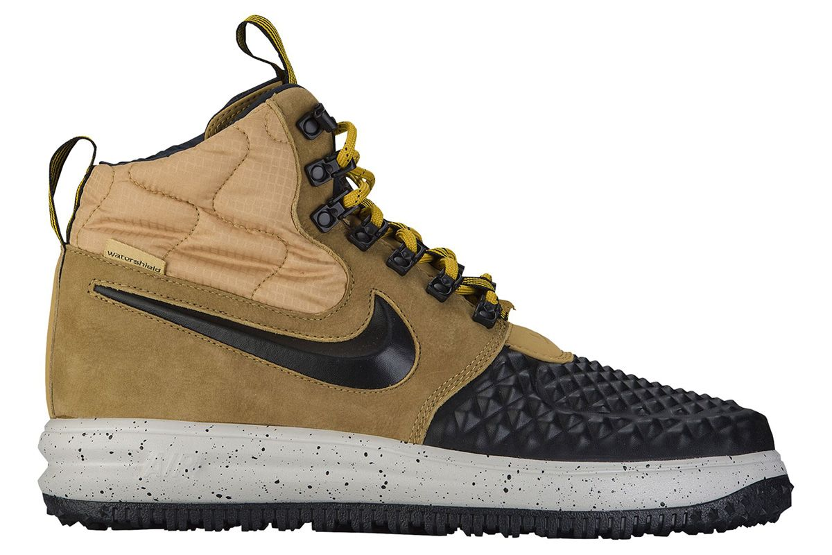 Nike\u0027s Air Force 1 Duckboot Silhouette Surfaces in Two New Colorway  Options: As recent as yesterday, a new image of an olive-hued Lunar Force 1  Duckboot ...