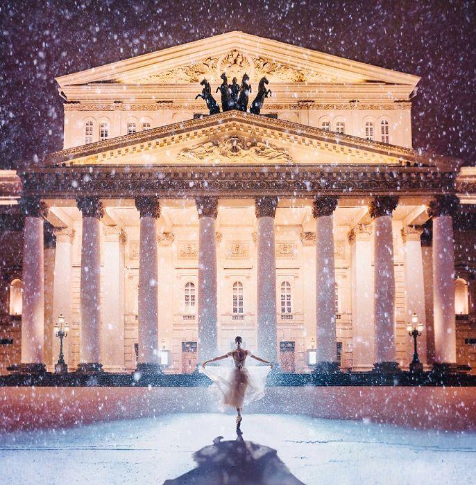 , Огни Большого театра   Фотографии, Красивые места ...