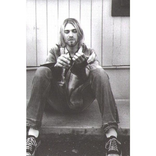 Nirvana Kurt Cobain ❤ liked on Polyvore featuring pictures, pics, nirvana, people and photos