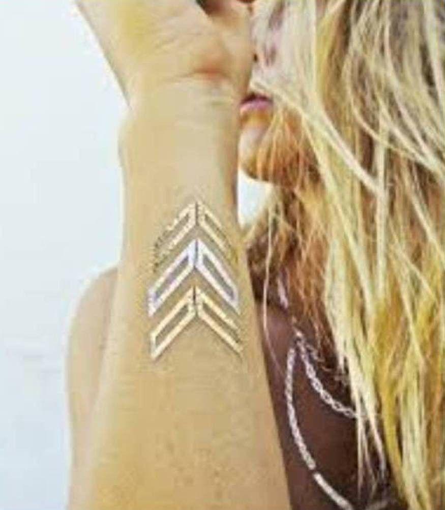 Metallic Gold Tribal Temporary Tattoo