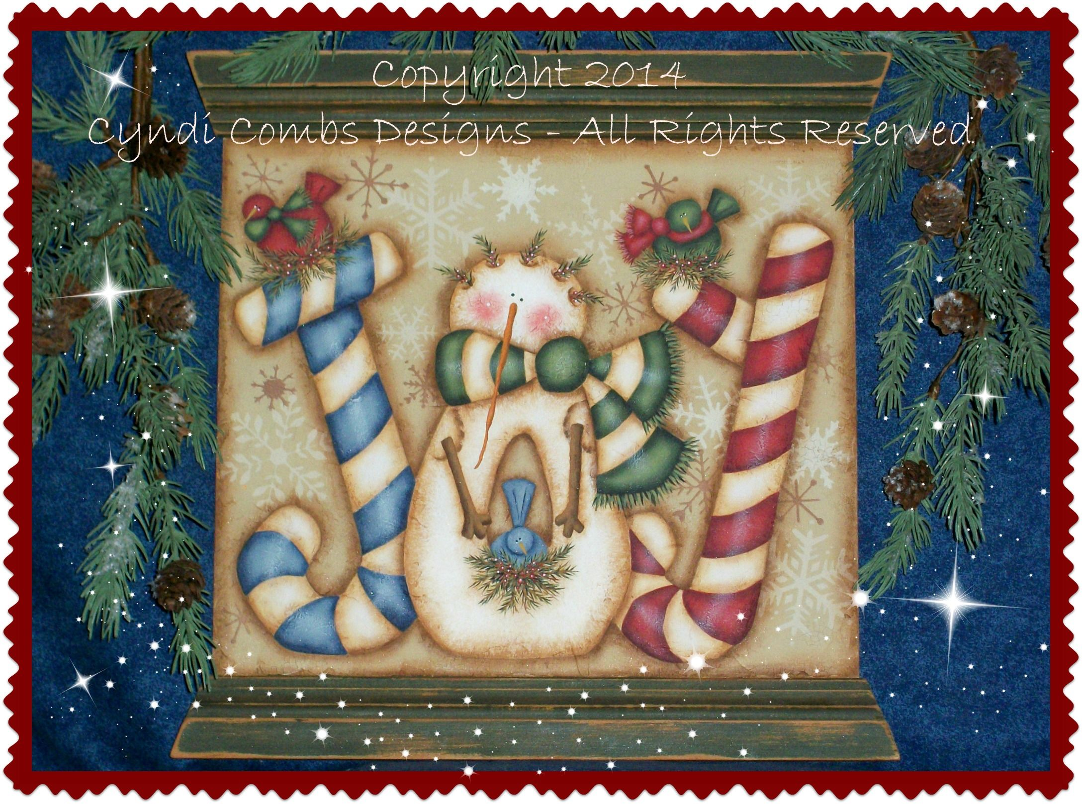 Joy Snowie Painting E Pattern by Cyndi Combs Designs Available from: https://www.etsy.com/listing/199186128/cc173-joy-snowie-painting-e-pattern?ref=shop_home_active_1&ga_search_query=173