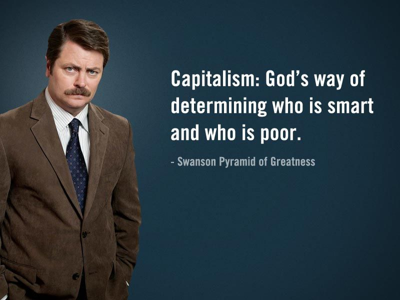 Image result for ron swanson capitalism