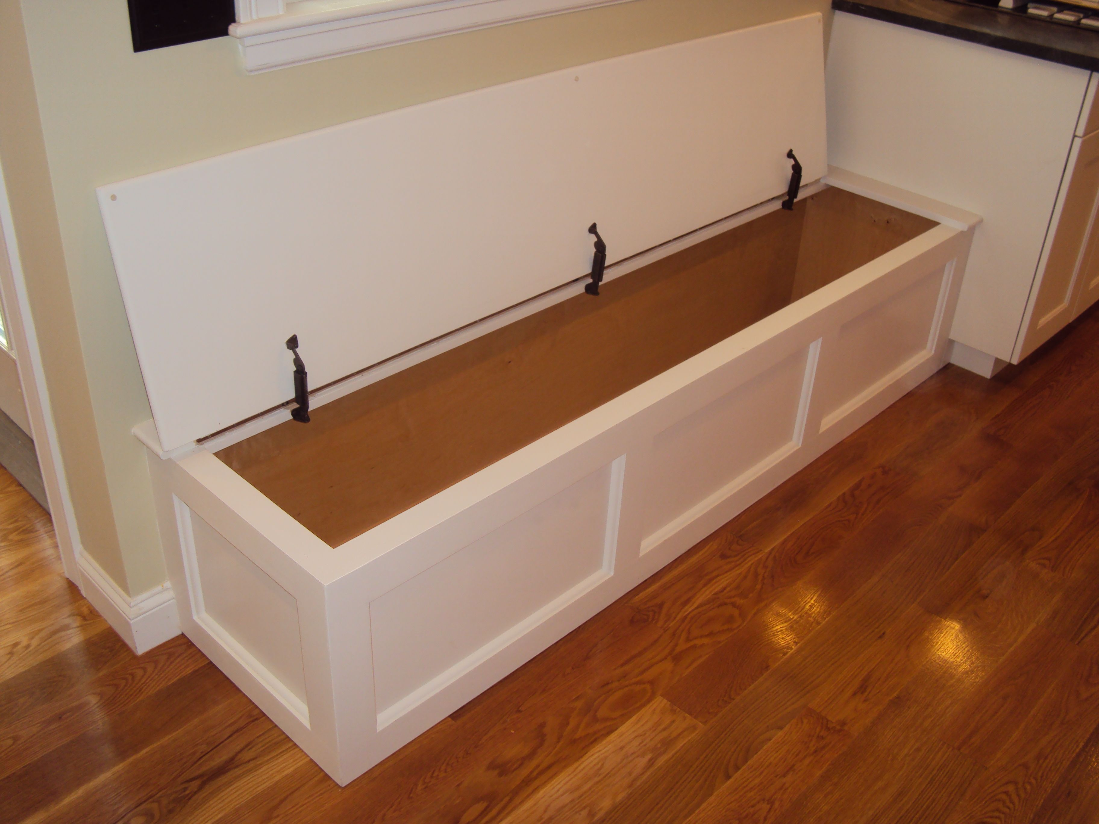 Kitchen Bench With Hinged Top Storage Wellesley Ma Built In Benches By Dishington Storage Bench Seating Kitchen Storage Bench Diy Storage Bench