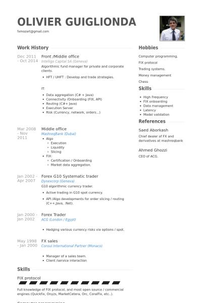 Forex Dealer Resume Sample Cover Letter Sample Sample Resume Resume