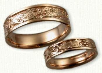 Celtic Animal Knot Wedding Rings custom celtic wedding rings