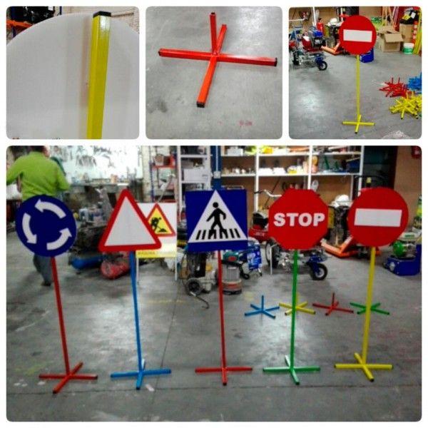Pack 10 se ales parque infantil educaci n vial educaci n - Construir parque infantil ...