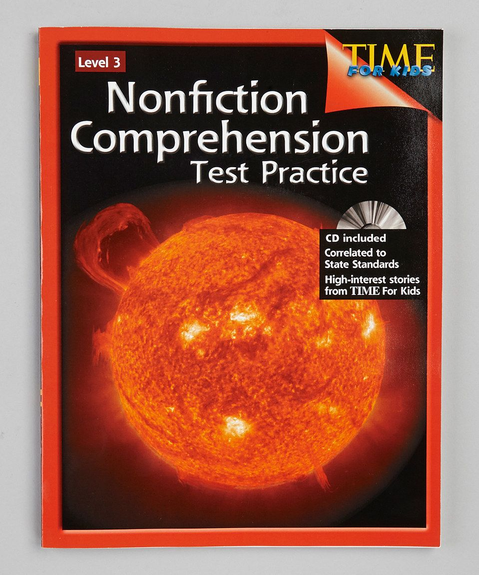 Look at this #zulilyfind! Nonfiction Comprehension Test Practice: Grade 3 by Shell Education #zulilyfinds