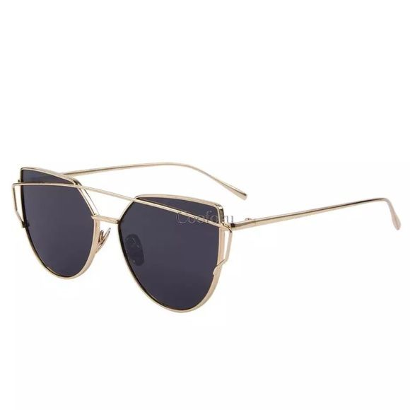 Sunglasses Black and gold sunglasses Accessories Glasses