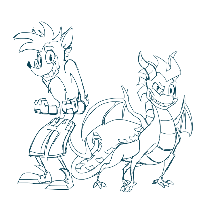 Crash bandicoot and spyro the dragon