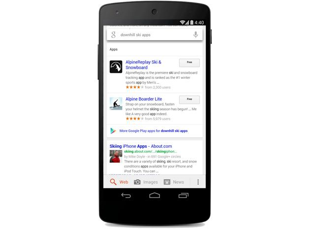 Google Search On Android Now Finds Results Within Apps Android
