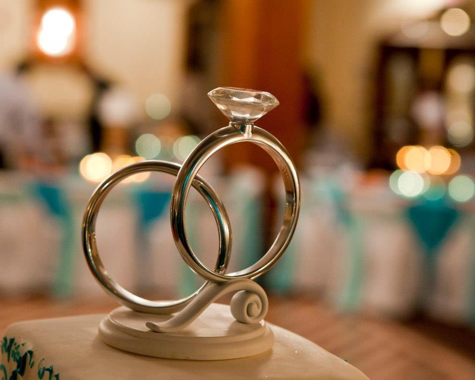 Engagement Ring Cake Topper Tropical Bling Engagement