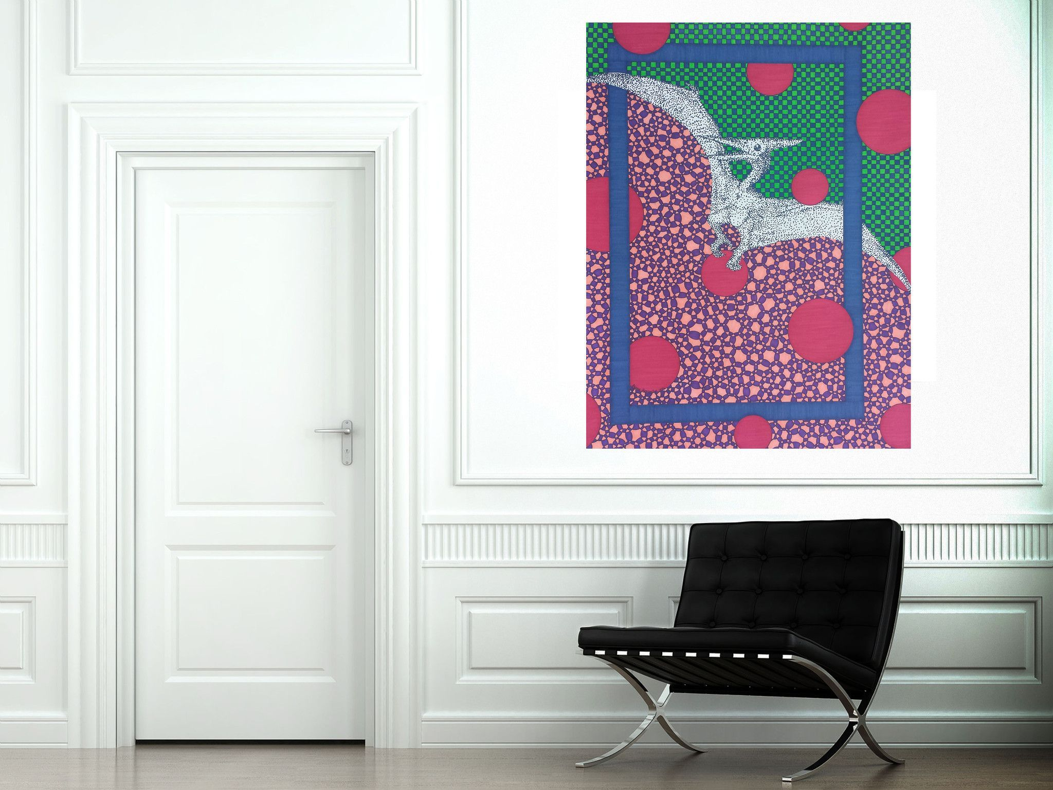 Pterodactyl Large Canvas Reproduction