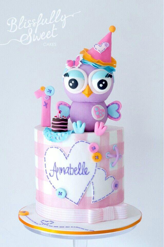 Pin by Dorita Rico on Cute birthday Cakes Pinterest Cake Owl