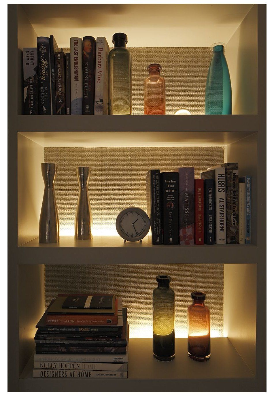 Our Top Shelf Lighting Tips Ideas And Products Lounge Lighting Design Loungelightingdesign Sally Storey In 2020 Alcove Lighting Shelf Lighting Bookshelf Lighting