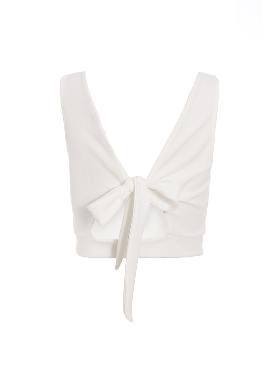8acce5a73c0 Cream Tie Back Crop Top | 2018 | Pinterest | Top quiz and Free uk