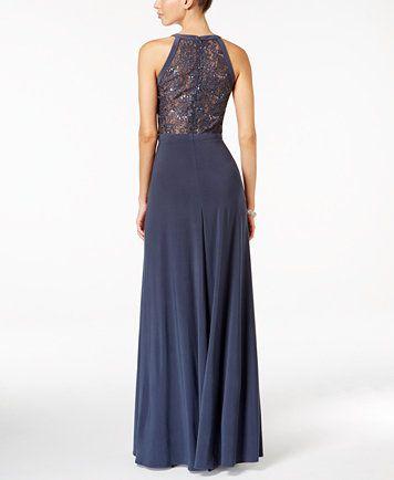 Nightway Lace Halter Gown Macyscom Mother Of The Bride