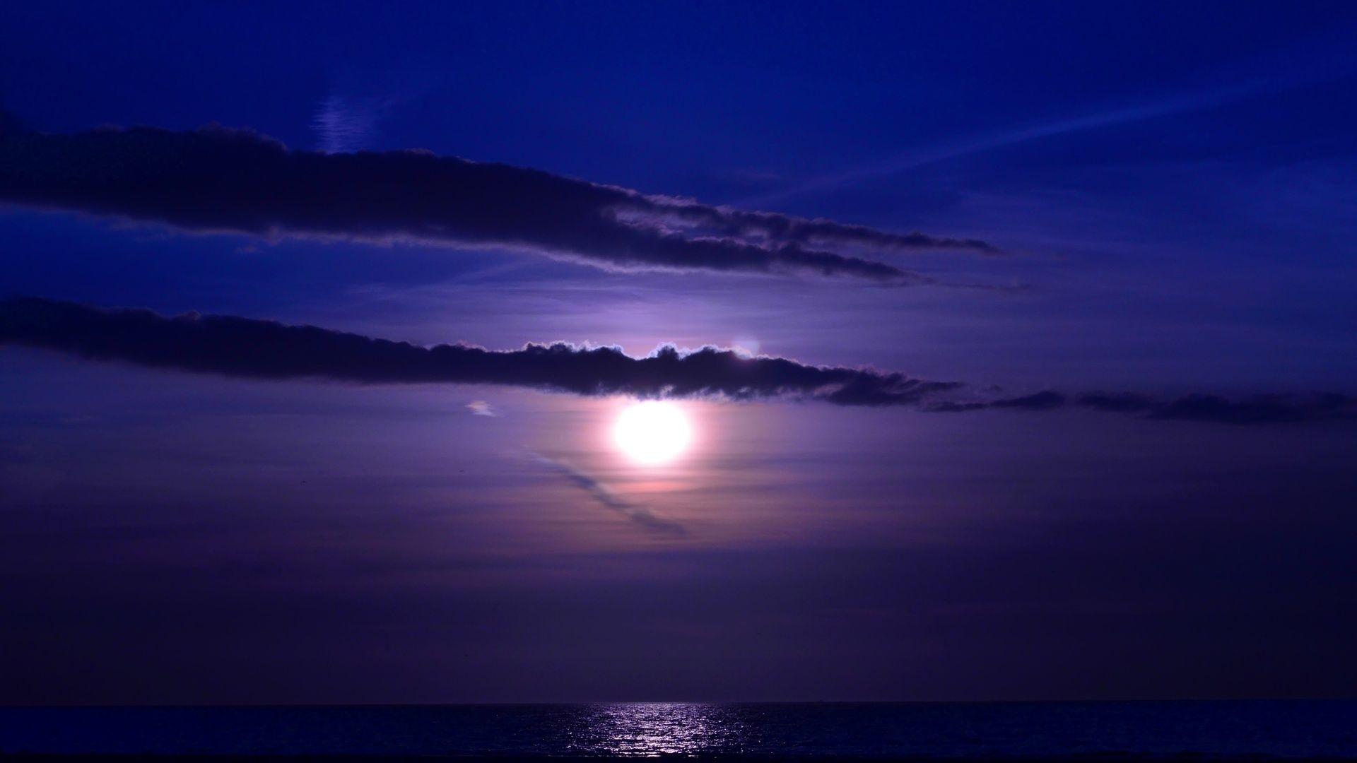 Amazing Ocean Night Nature HD Wallpaper 1920x1080