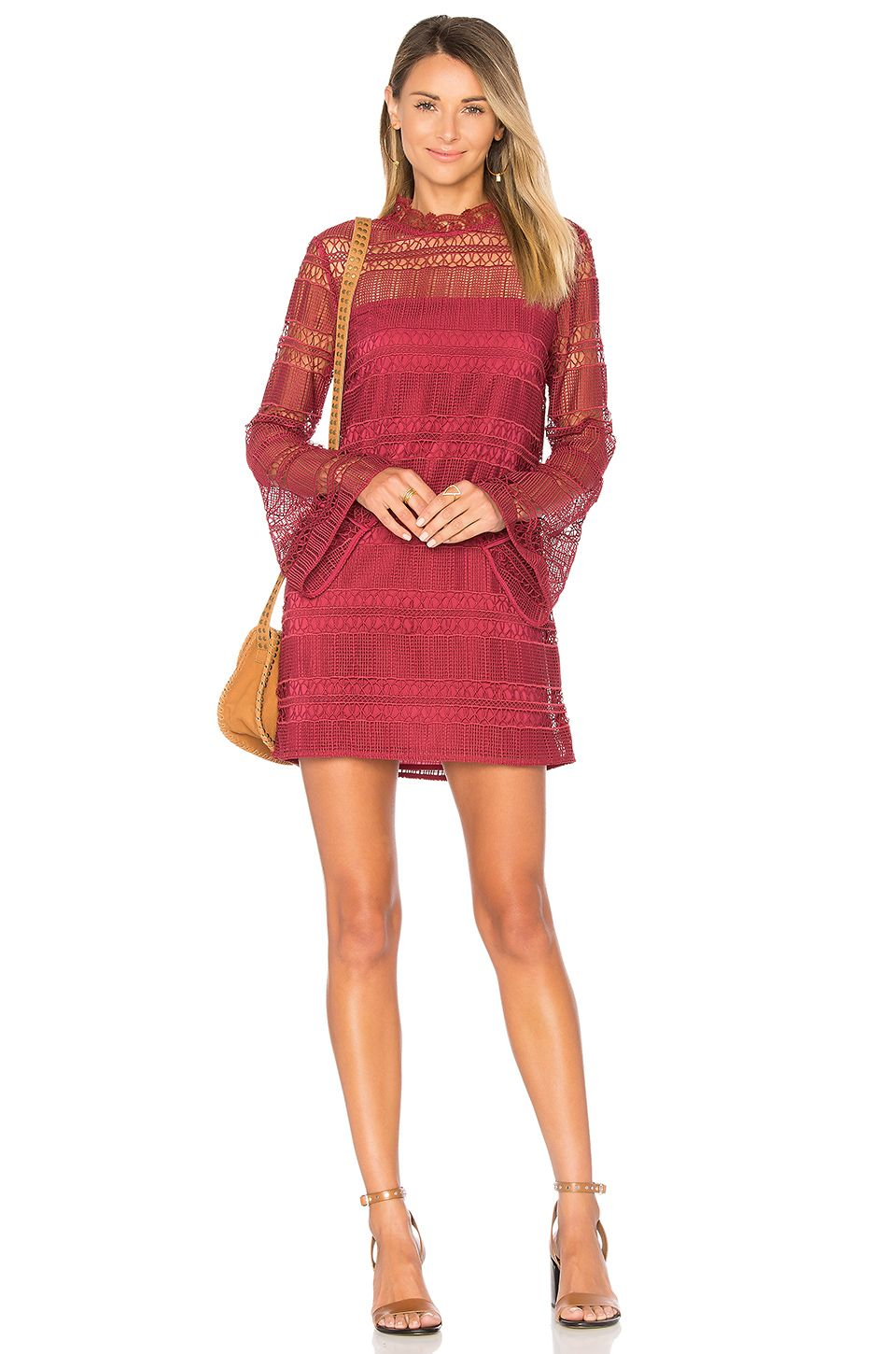 Tularosa matilda lace dress in dusted berry revolve yes to the