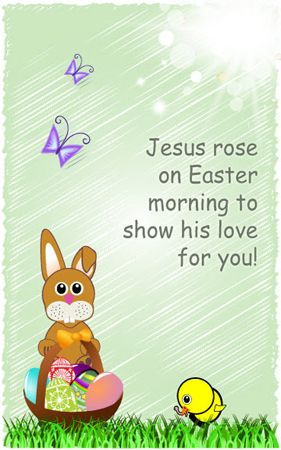 Free Christian Greeting Cards - Jesus Rose on Easter Easter